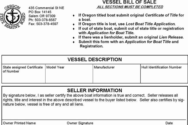 Vessel Bill Of Sale Fresh 248 Bill Of Sale form Free Download