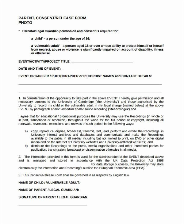 Video Consent form Template Inspirational Free 41 Consent form In Templates