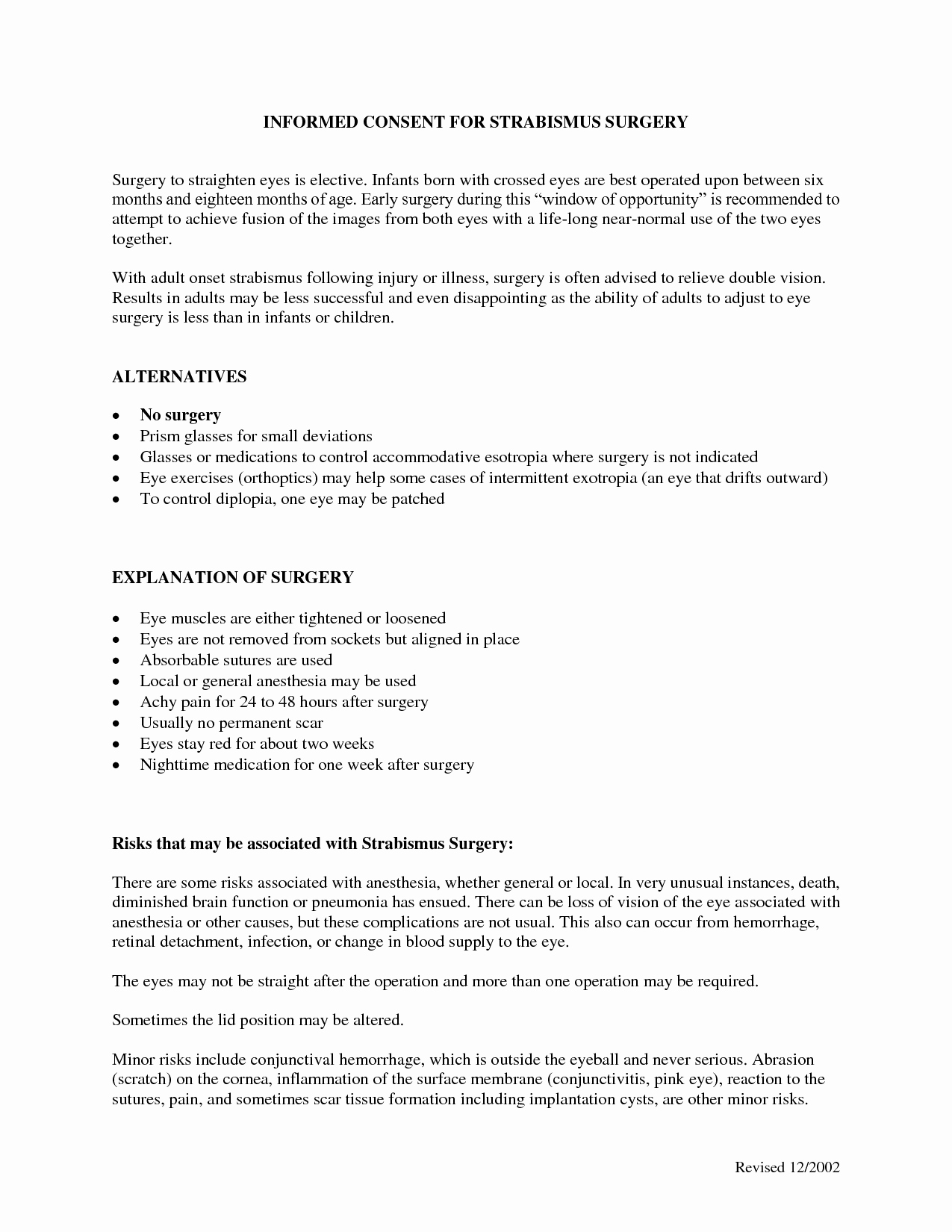 Video Consent form Template Inspirational Surgery Informed Consent form Template