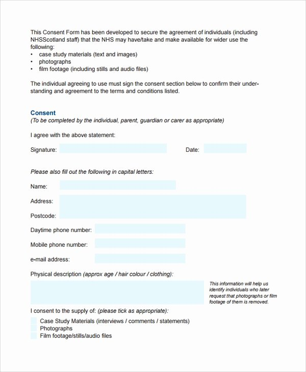 Video Consent form Template Luxury 10 Video Consent forms