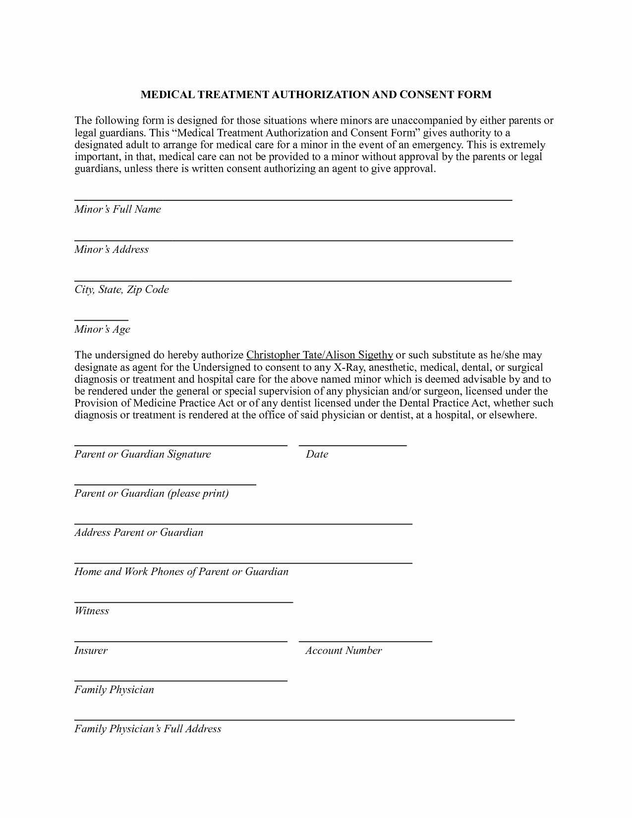 Video Consent form Template Luxury Consent for Medical Treatment form Template 3 – Guatemalago