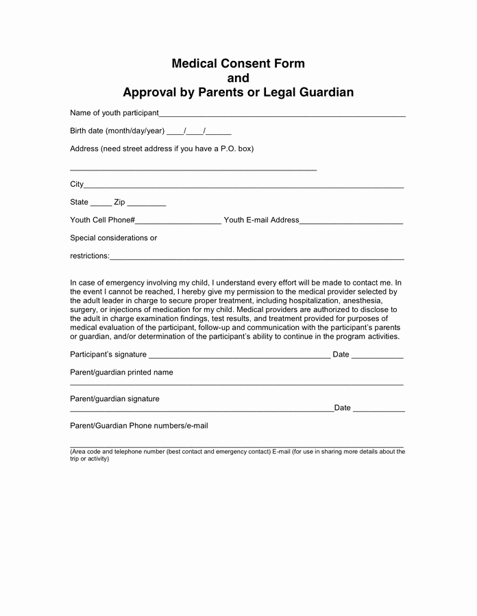 Video Consent form Template New Doctors Note Consent forms