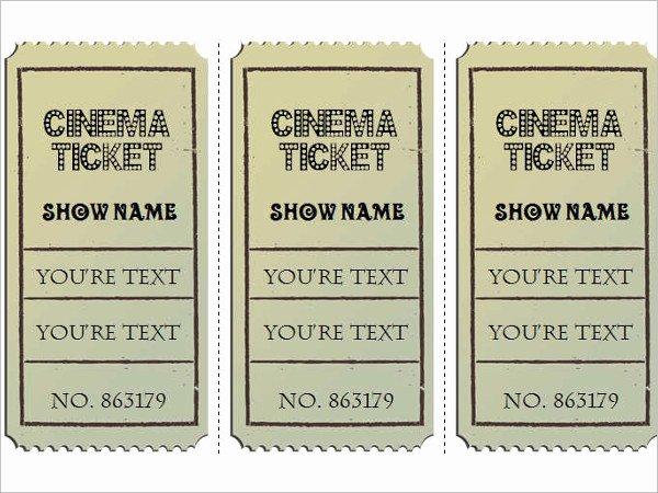 Vintage Movie Ticket Template Best Of 29 Of Vintage Movie Ticket Template