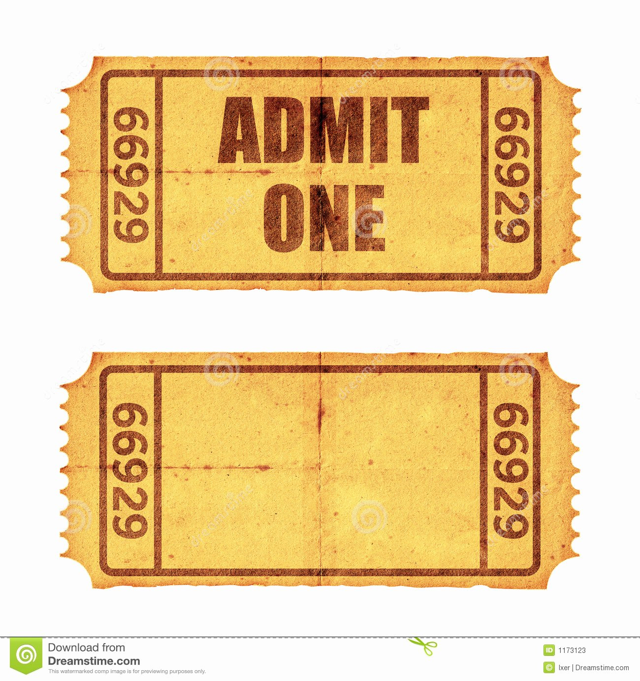 Vintage Movie Ticket Template Fresh Two Tickets Stock S Image