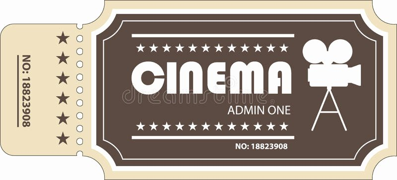 Vintage Movie Ticket Template Inspirational Movie Ticket Stock Vector Image Of Price Numbered event