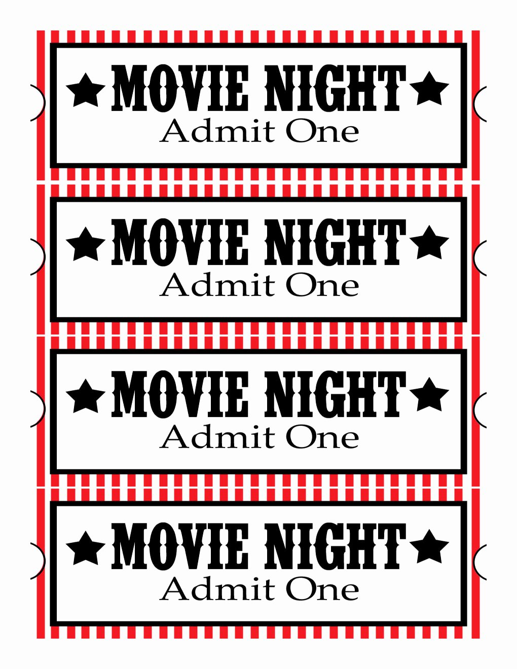 Vintage Movie Ticket Template Inspirational Sweet Daisy Designs Free Printables Home Movie theatre Night