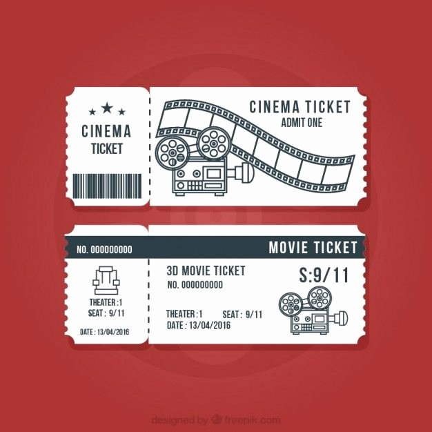 Vintage Movie Ticket Template New Vintage Cinema Tickets Set Vector