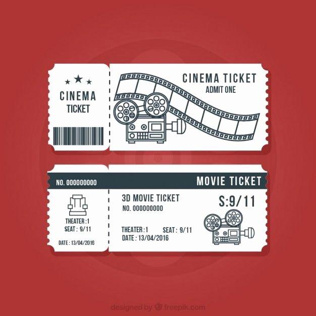 Vintage Movie Ticket Template New Vintage Cinema Tickets Set Vector