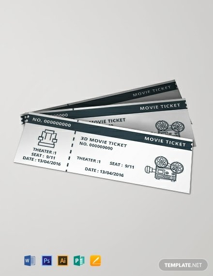 Vintage Movie Ticket Template Unique Free Vintage Movie Ticket Template Download 376 Tickets