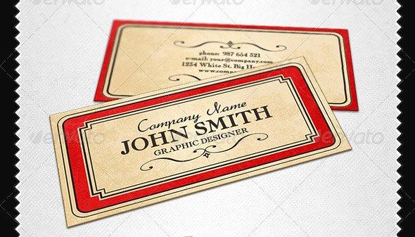 Vintage Style Business Card Elegant 21 Vintage & Retro Business Card Templates – Design Freebies