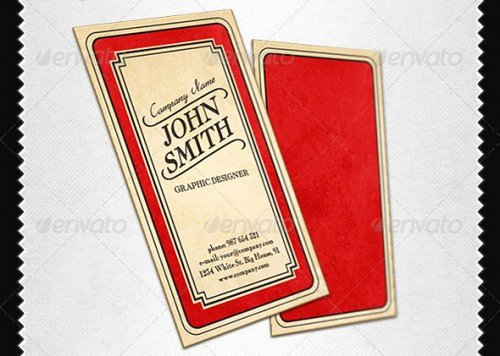 Vintage Style Business Cards Beautiful 20 Handpicked Business Cards Templates Creativedive
