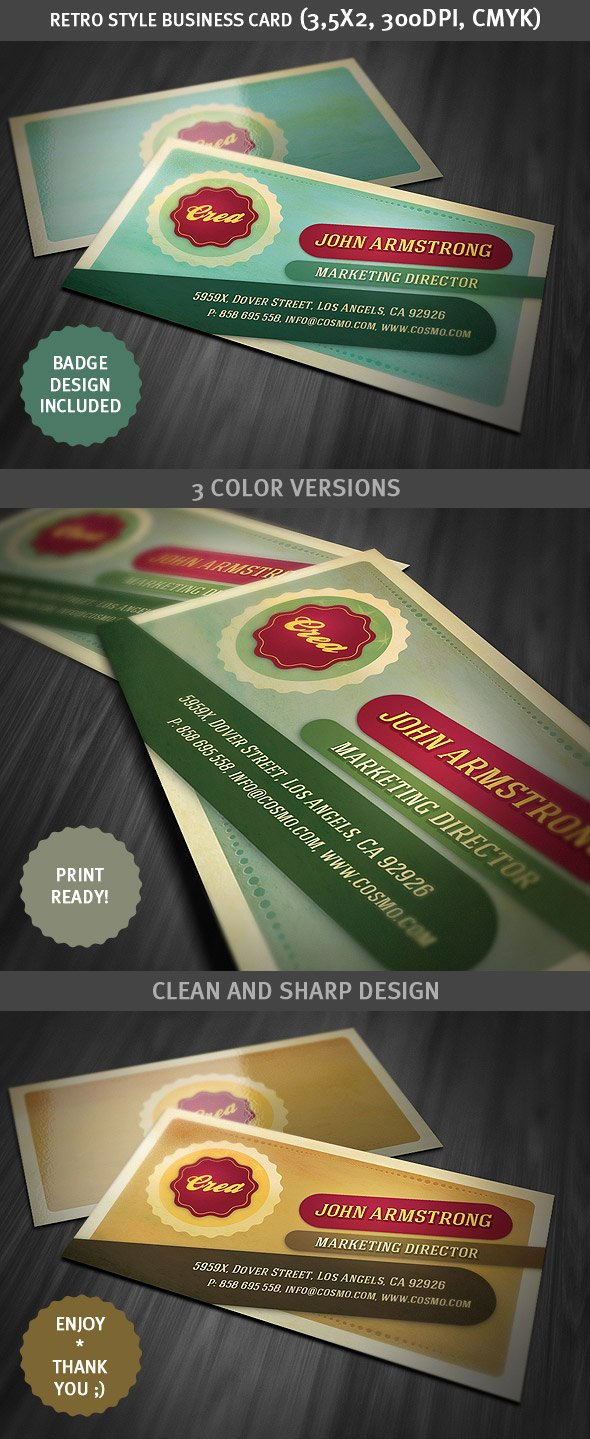 Vintage Style Business Cards Best Of Retro Style Business Card Template by Hugoo13 On Deviantart