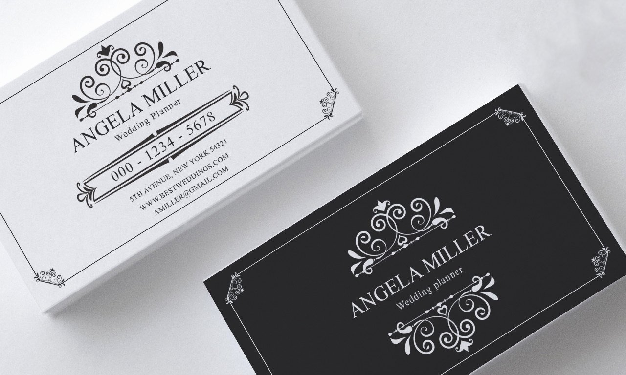 elegant business card template modern