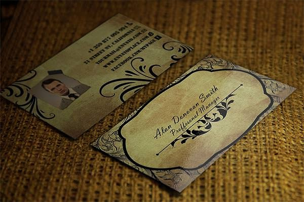 Vintage Style Business Cards New 23 Best Vintage Business Card Templates Ai Ms Word Indesign