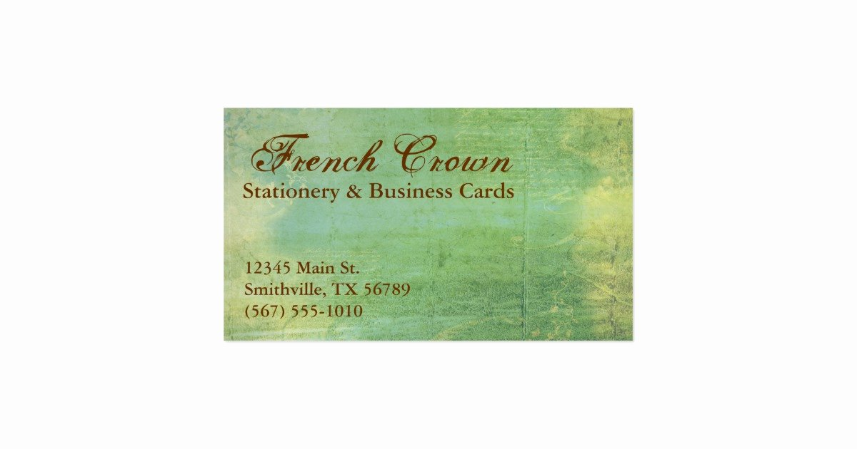 Vintage Style Business Cards New French Crown Vintage Style Business Cards