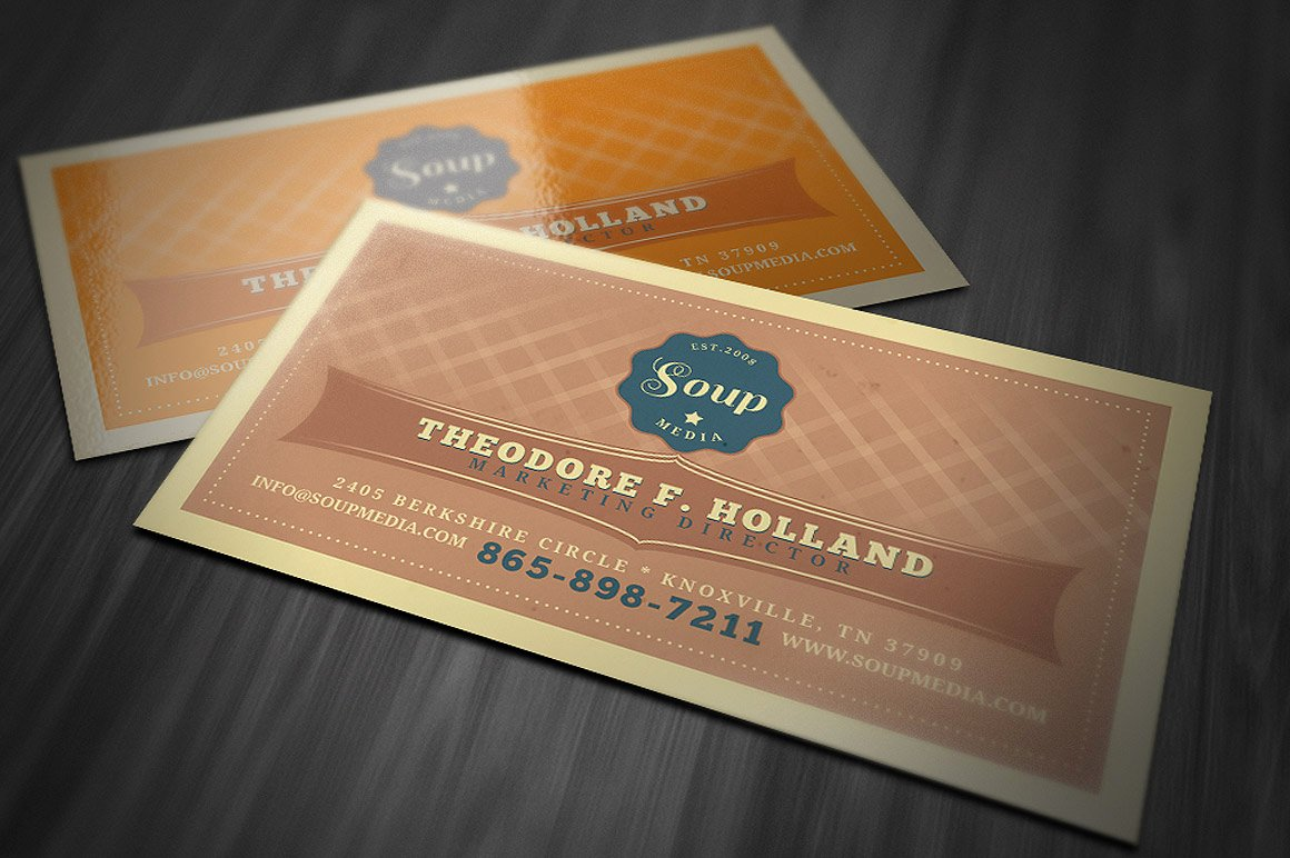 Vintage Style Business Cards Unique Retro Business Card Template Business Card Templates On Creative Market