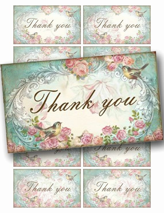 Vintage Thank You Cards Awesome 34 Best Images About Shabby Chic Printables On Pinterest