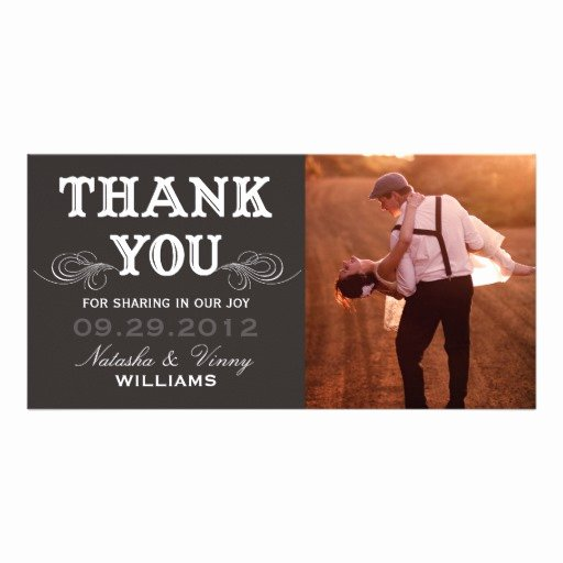 Vintage Thank You Cards Awesome Vintage Thank You Wedding Thank You Card Personalized Photo Card