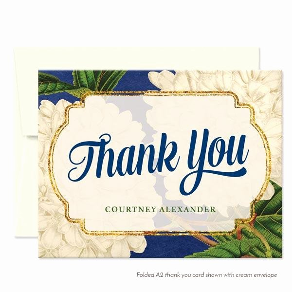 thank you cards vintage hydrangeas