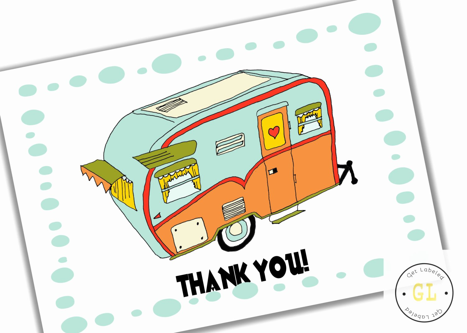 Vintage Thank You Cards Best Of Retro Camper Vintage Camper Thank You Card Instant Download