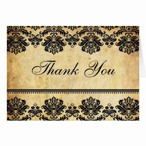 Vintage Thank You Cards Best Of Vintage Damask Thank You Cards