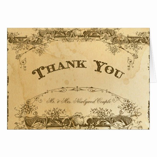 Vintage Thank You Cards Best Of Vintage Thank You Note Tea Stained Parchment Art Card