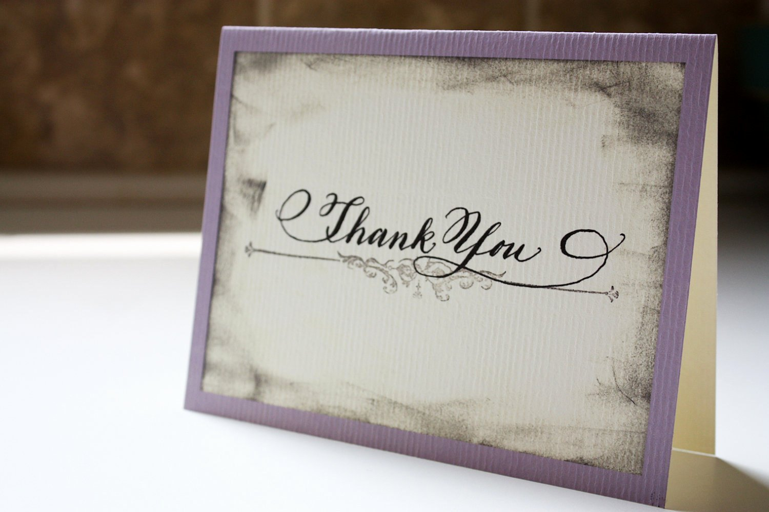 Vintage Thank You Cards Inspirational Calligraphy Vintage Thank You Card Set Of by Designsbyrobynlove