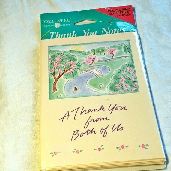 Vintage Thank You Cards Lovely Thank You Cards From Both Of Us Vintage American by Vintagepoetic