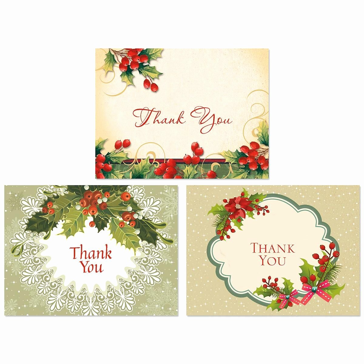 Vintage Thank You Cards Luxury Vintage Christmas Thank You Note Cards