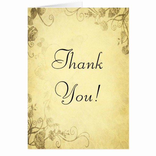 Vintage Thank You Cards New Vintage Antique Look Wedding Thank You Card