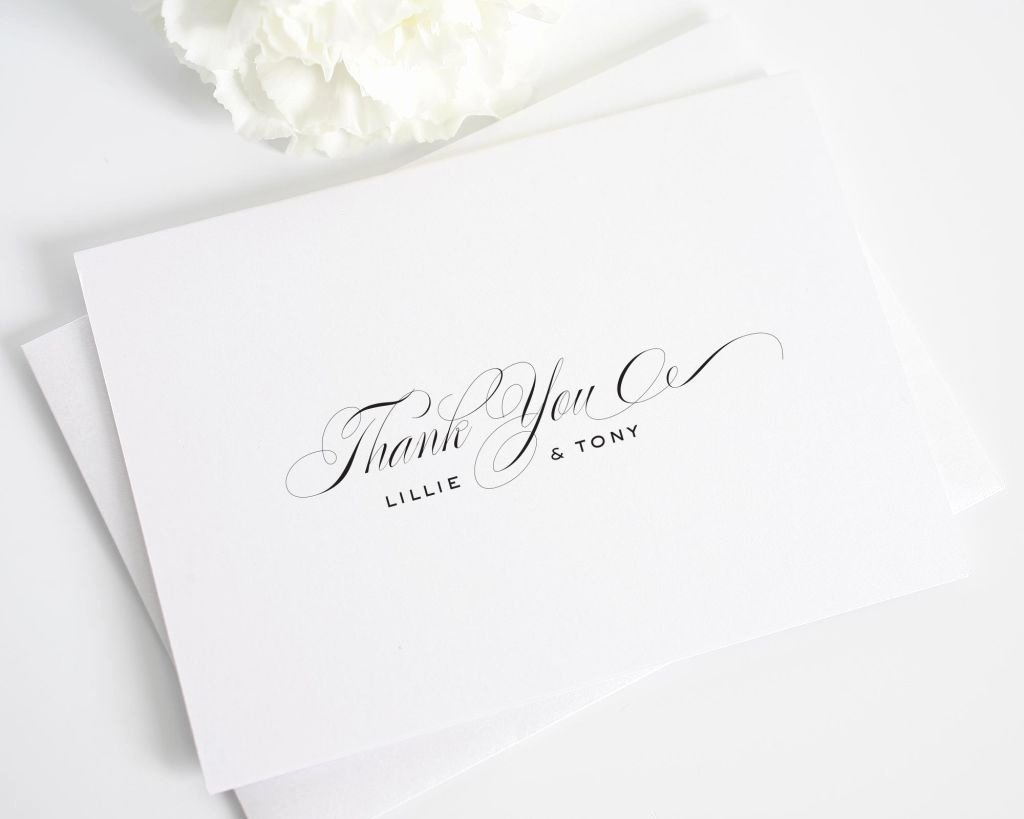 Vintage Thank You Cards Unique Classic Thank You Cards Thank You Cards by Shine