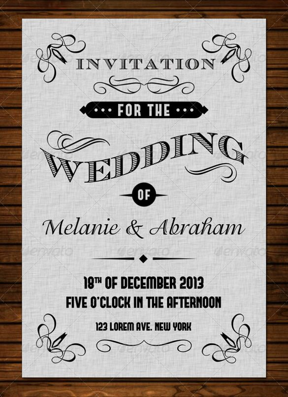 Vintage Wedding Invites Templates Beautiful 24 Vintage Wedding Invitation Templates Psd Ai
