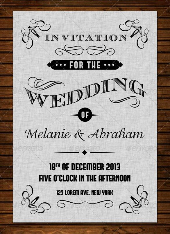 Vintage Wedding Invites Templates Beautiful 24 Vintage Wedding Invitation Templates Psd Ai