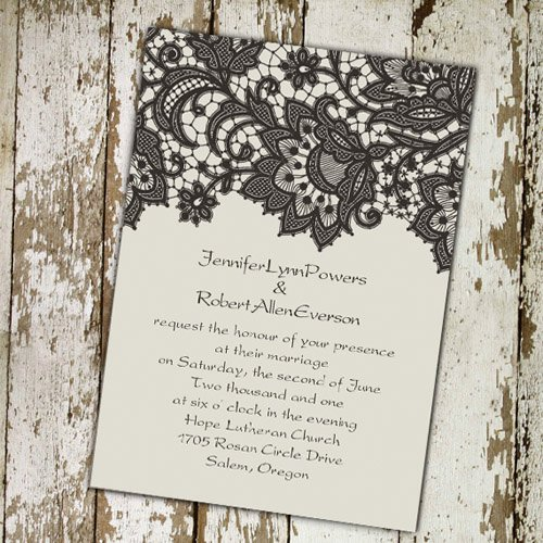 Vintage Wedding Invites Templates Beautiful Cheap Printable Lace Wedding Invitations at