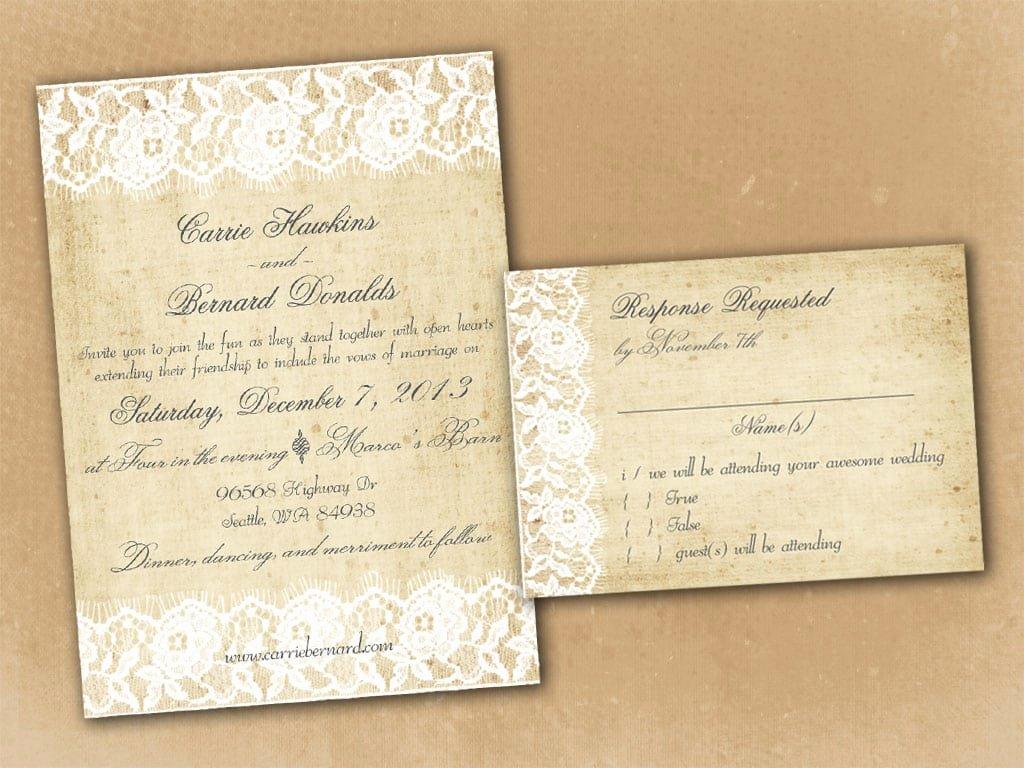 Vintage Wedding Invites Templates Beautiful Vintage Wedding Invitation Template