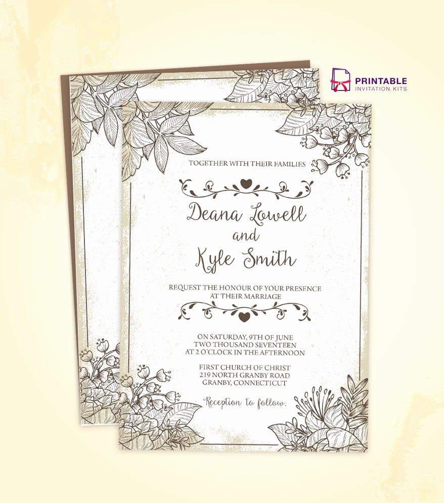 Vintage Wedding Invites Templates Best Of Vintage Wedding Invitation Template 2018 ← Wedding