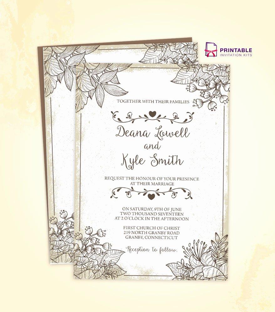 Vintage Wedding Invites Templates Best Of Vintage Wedding Invitation Template 2018 ← Wedding