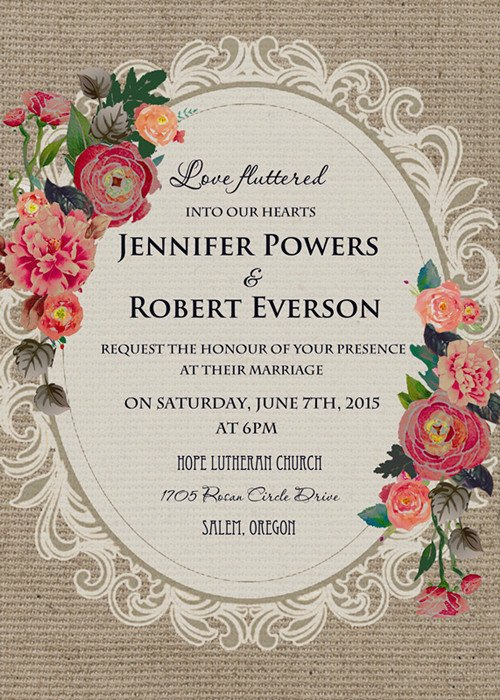 Vintage Wedding Invites Templates Best Of Vintage Wedding Invitations Affordable at Elegant Wedding