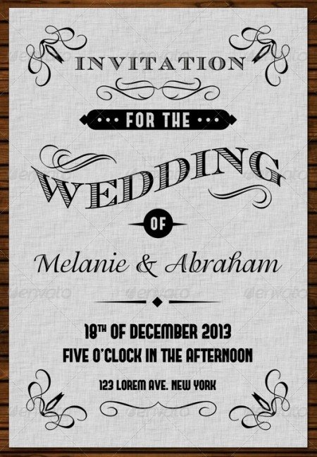 Vintage Wedding Invites Templates Elegant Wedding Invitation Template 20 Wedding Invitation Cards