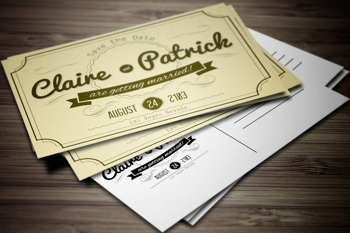 Vintage Wedding Invites Templates Fresh Vintage Wedding Invitation Vol 2 Invitation Templates