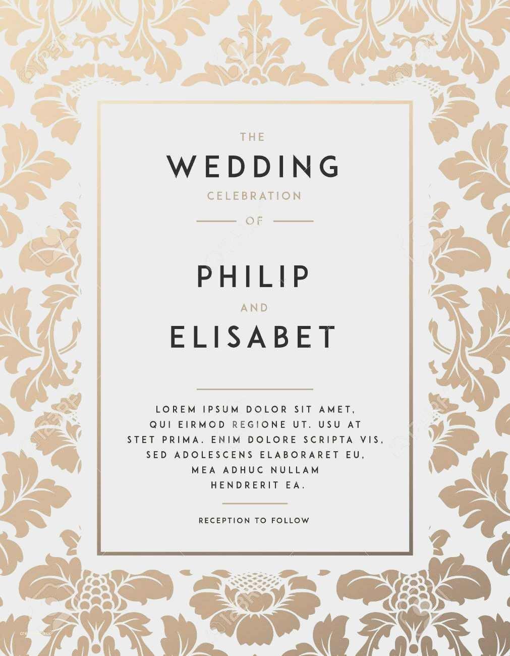Vintage Wedding Invites Templates Luxury Blank Vintage Wedding Invitation Templates New Vintage