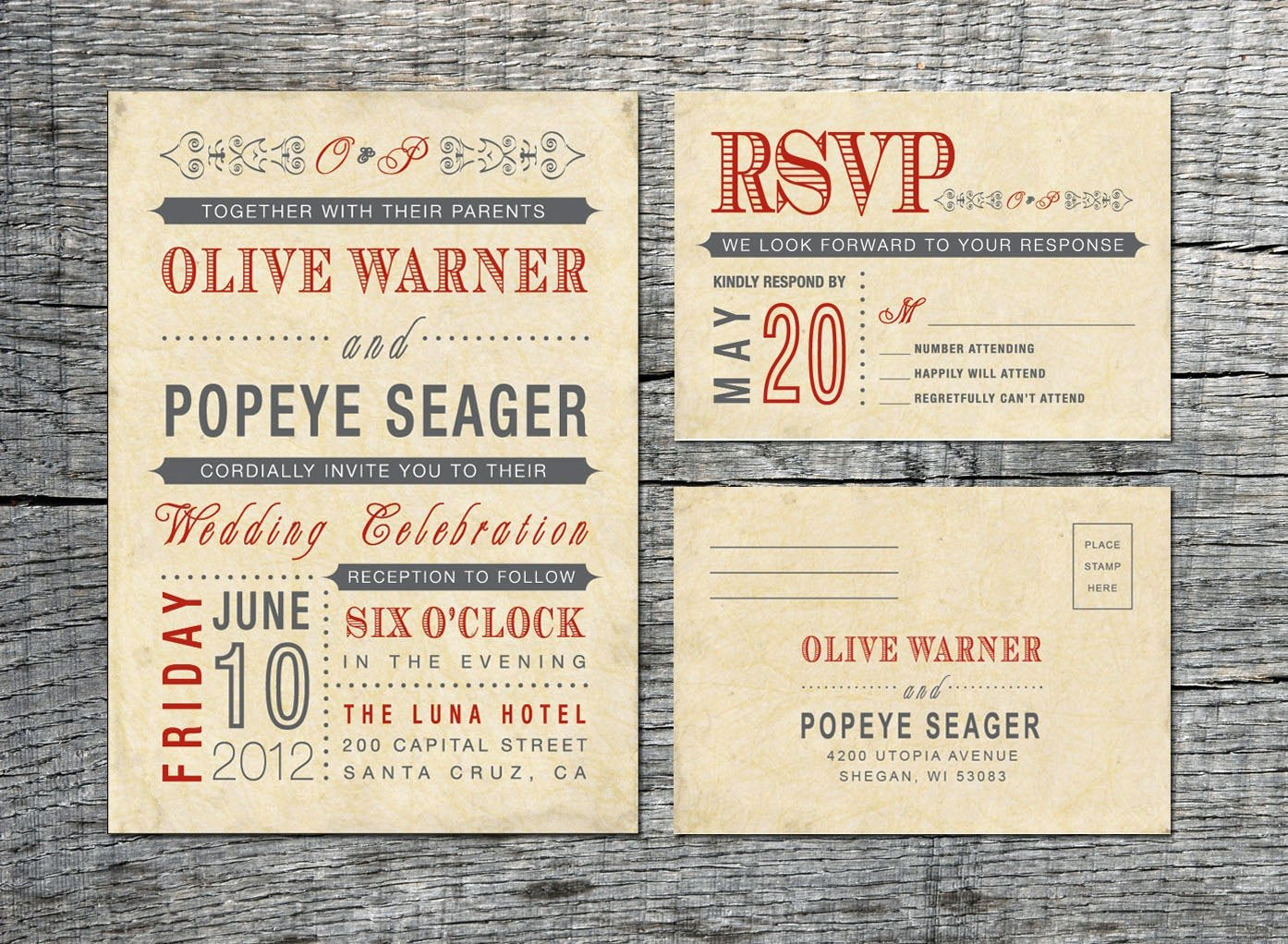 Vintage Wedding Invites Templates Luxury Vintage Wedding Invitation & Rsvp Card Old Fashioned Style