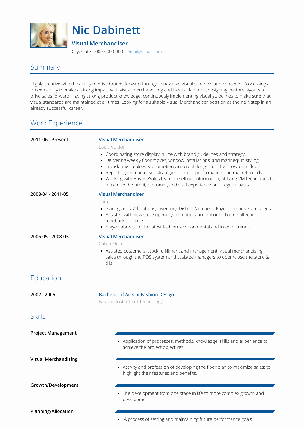 Visual Merchandising Resume Samples Inspirational Visual Merchandiser Resume Samples and Templates