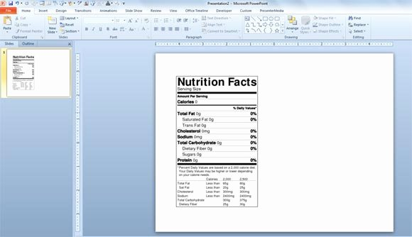 Vitamin Water Label Template Beautiful Nutrition Facts Template