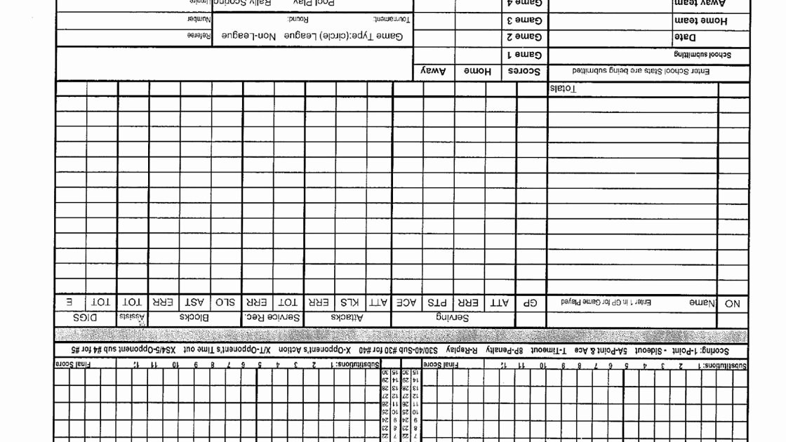 Volleyball Stat Sheets Printable Luxury Volleyball Stat Sheets and forms
