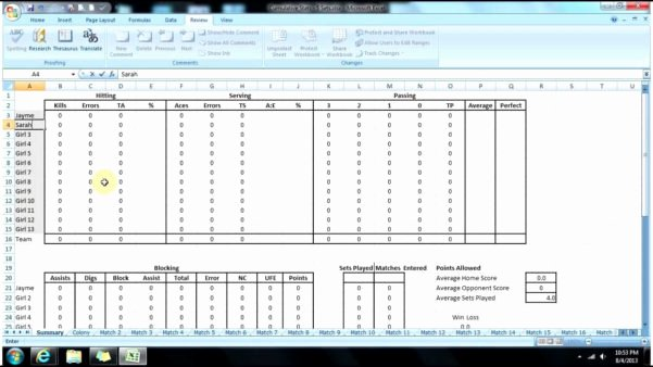 Volleyball Statistics Sheet Template Fresh Hockey Team Stats Spreadsheet Google Spreadshee Hockey