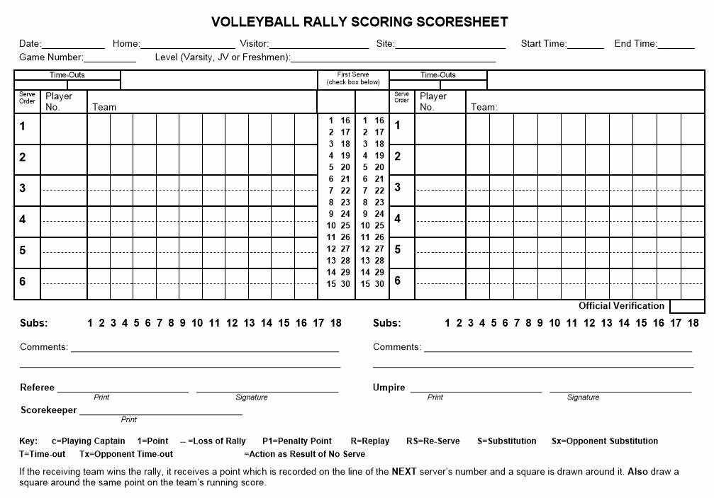 Volleyball Statistics Sheet Template Inspirational Image Result for Volleyball Score Sheet