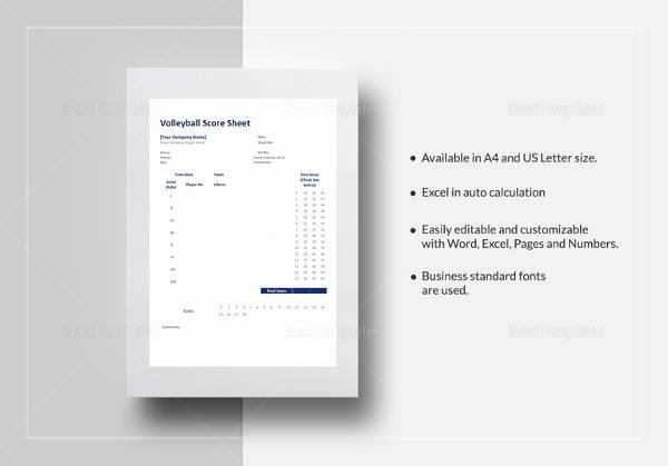 Volleyball Statistics Sheet Template Luxury Free 11 Sample Volleyball Score Sheets In Google Docs