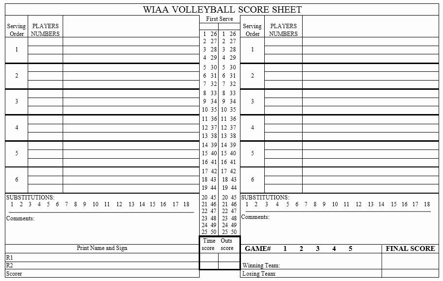 Volleyball Statistics Sheet Template New 8 Free Sample Volleyball Score Sheet Templates Printable