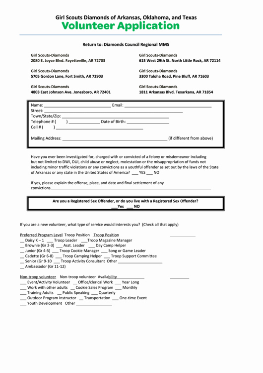 Volunteer Application form Pdf Best Of top 253 Girl Scout forms and Templates Free to In Pdf format